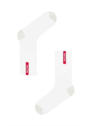 Penti Bej-Beyaz Erkek Cool Awesome 2Li Soket Çorap Ten